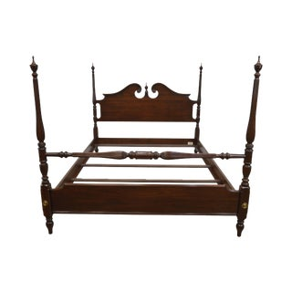 Ethan Allen Georgian Court Collection Cherry Queen Poster Bed For Sale
