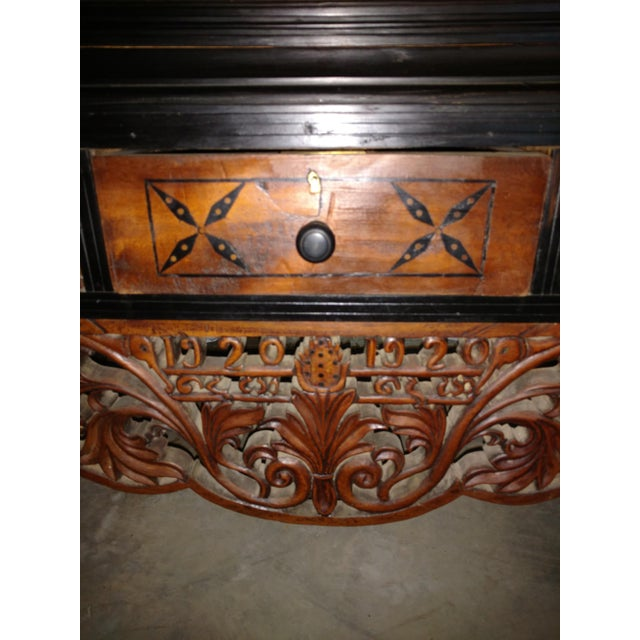 Pettagama 1920 Mahogany and Ebony Dowry Chest For Sale - Image 4 of 12