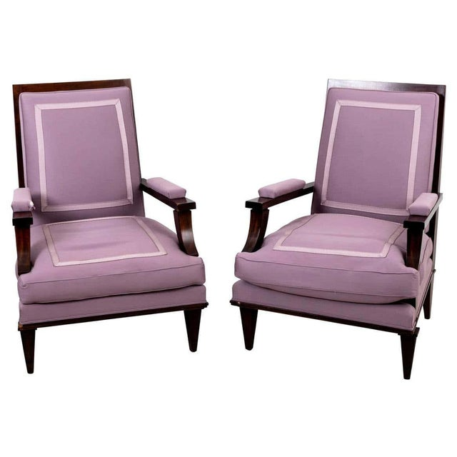 1940s Vintage Jules Leleu Attributed Armchairs - a Pair For Sale - Image 11 of 11