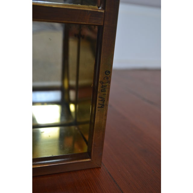 Signed Curtis Jere Brass Mirrored Shelf - Image 5 of 5