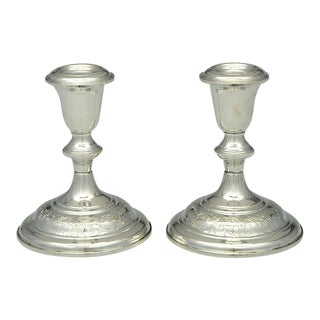 1920s Kirk Stieff Old Maryland Sterling Candlestick - a Pair For Sale