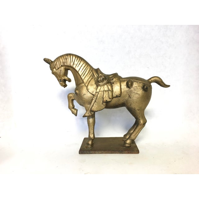 Chinese Tang Style Cast Iron Horse Sculpture - Image 2 of 8