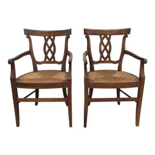 1940s Natural Wood Arm Chairs For Sale