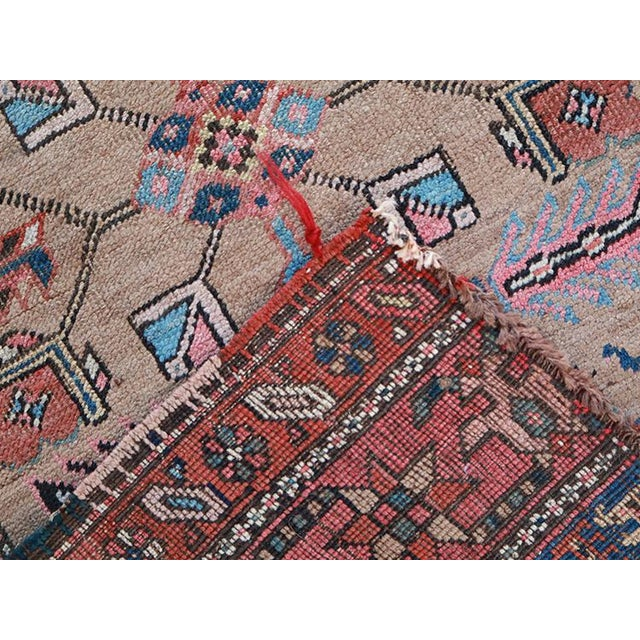 "Antique Persian Sarab Runner Early 1900's - Size 3'4"" X 11'3"" - Image 4 of 4"