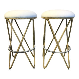 David Francis Indoor Barstools - a Pair For Sale
