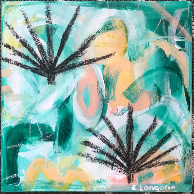 2010s Palm Fronds #1 Contemporary Painting For Sale - Image 5 of 5