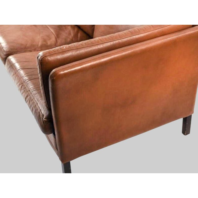 Danish Mid-Century Modern Leather Sofa by Mogens Hansen For Sale In New York - Image 6 of 11