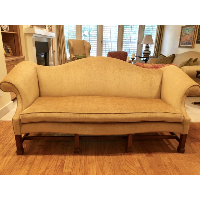 Thomas Chippendale 1980s Vintage Southwood Chippendale Style Sofa For Sale - Image 4 of 7