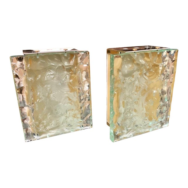 Vintage Max Ingrand for Fontana Arte Italian Sconces - a Pair For Sale