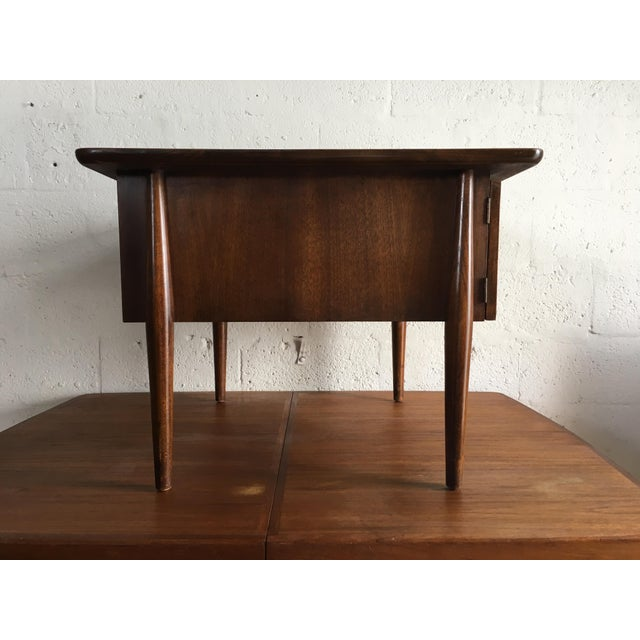 Danish Modern Mid-Century Modern Side Table With Caned Doors . For Sale - Image 3 of 11