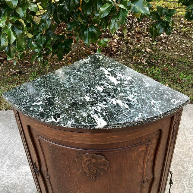 Antique French Louis XV Marble Top Corner Cabinet ~ Confiturier For Sale In Dallas - Image 6 of 11