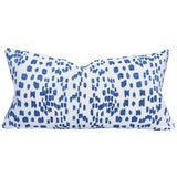 Image of Brunschwig & Fils Les Touches Embroidered Canton Blue Lumbar Pillow Cover For Sale