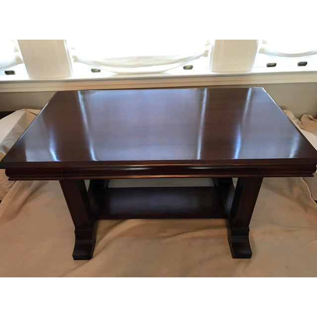 Cowan of Chicago Mahogany Library Table - Image 2 of 11
