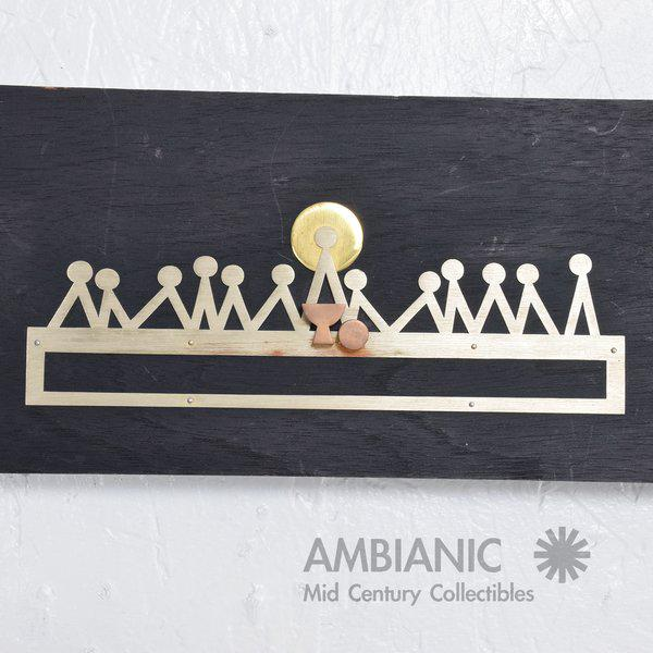 Mid-Century Modern Emaus Last Supper Wall Sculpture For Sale - Image 3 of 7