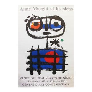 1982 French Miro Exhibition Poster, Aimé Maeght Et Les Siens For Sale