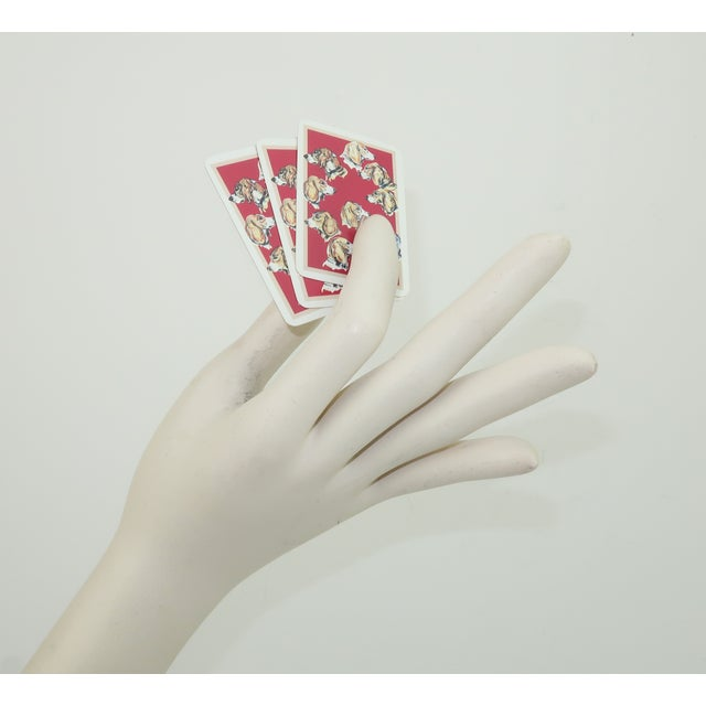 Orange Hermès Mini Playing Cards With Hound Dog Motif For Sale - Image 8 of 9