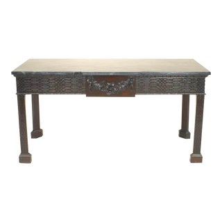 English Chinese Chippendale Style Console Table For Sale