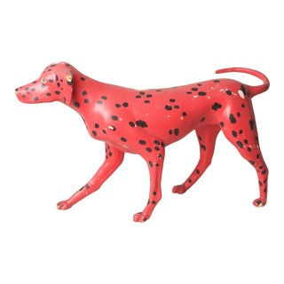 1950s Vintage Whimsical Pointer Dog Statue For Sale