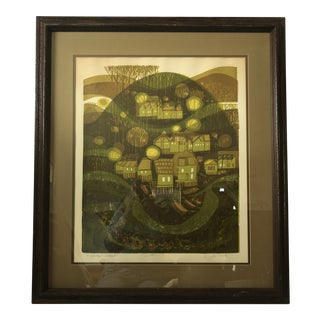 """Fishing Village Green"" Painting Signed & Numbered by David Weidman For Sale"