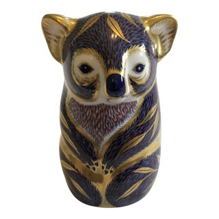 Vintage Royal Crown Derby Koala Paperweight Figurine For Sale