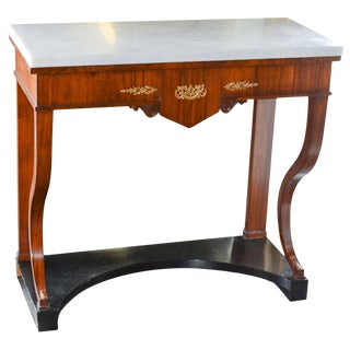 Antique Continental Mahogany Console Table For Sale