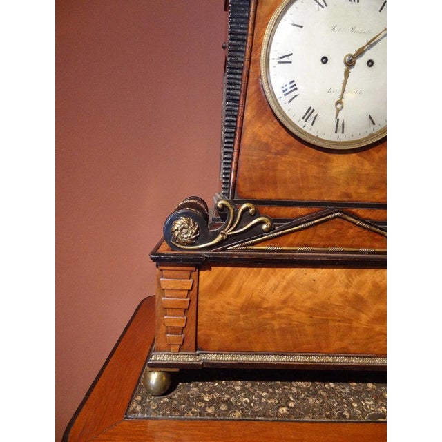 Regency Period Musical Clock Attributed to Bullock For Sale - Image 9 of 10