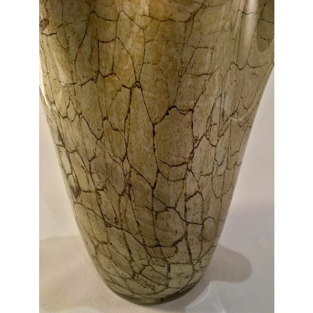 Vintage Jozefina Krosno Handkerchief Vase In Hand Blown Marbled