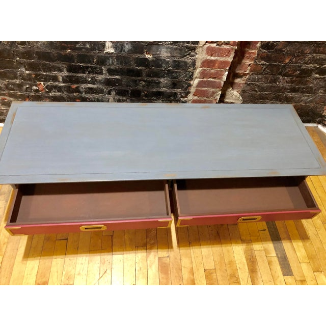1960s Contemporary Gray & Coral Coffee Table For Sale In New York - Image 6 of 10