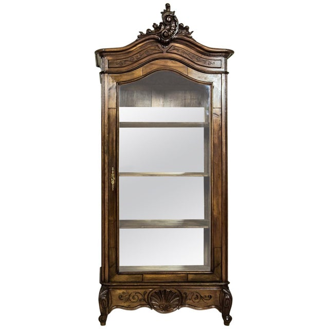 Early 20th-Century Walnut Neo-Rococo Showcase For Sale - Image 11 of 11
