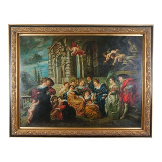 """The Garden of Love"" After Peter Paul Rubens Baroque Renaissance Oil Painting For Sale"