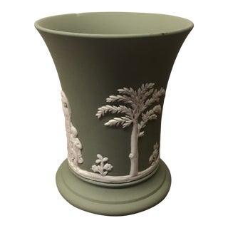 Wedgwood Green Jasperware Vase For Sale