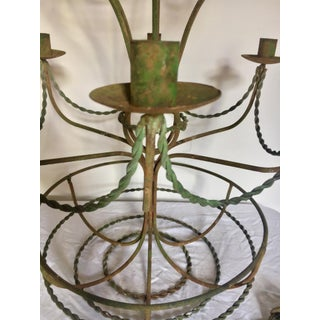 Vintage Mid Century Wrought Iron Hot Air Balloon Chandelier & Flower Basket Preview
