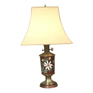 Mid 20th Century Art Deco Hand Painted Porcelain Table Lamp For Sale