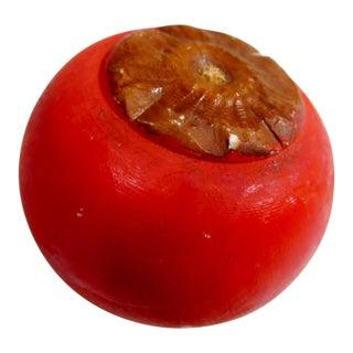 Vintage Italian Alabaster Stone Fruit Persimmon