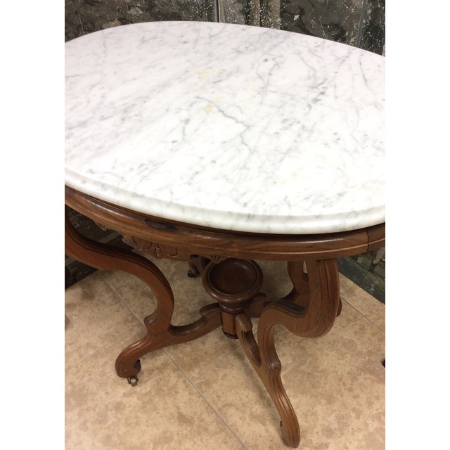 Marble Top Oval Table - Image 4 of 7