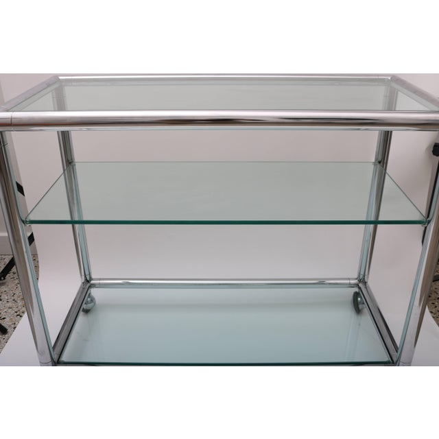 Mid 20th Century Polished Chrome & Glass Bar Cart by Pace For Sale - Image 5 of 10