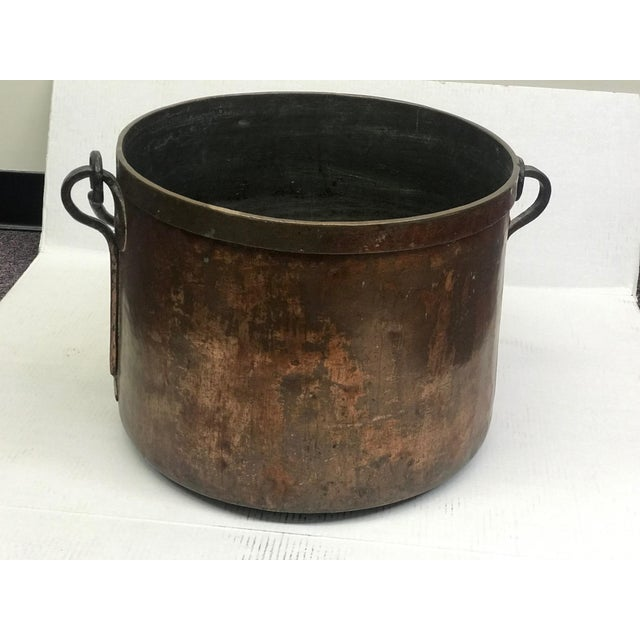 French French Rustic Copper Pot For Sale - Image 3 of 11