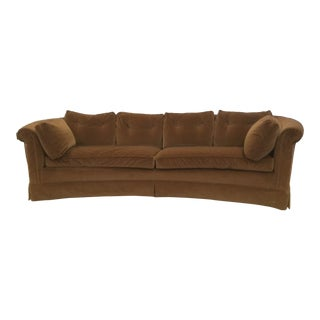 Mid-Century Modern Style Baker Curved Sofa For Sale
