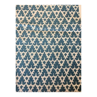 2 Yards Quadrille Blue Volpi Suncloth Outdoor Fabric For Sale