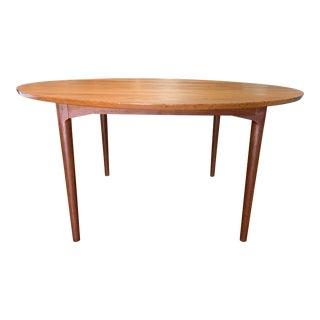 Mid-20th Century Poul Cadovius Cado Teak Round Dining Table For Sale
