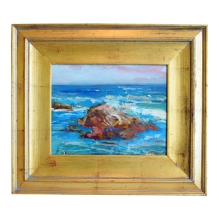 Santa Barbara California Original Juan Guzman Plein Air Seascape Painting For Sale