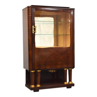 Art Deco Macassar Display Cabinet by Christian Krass For Sale