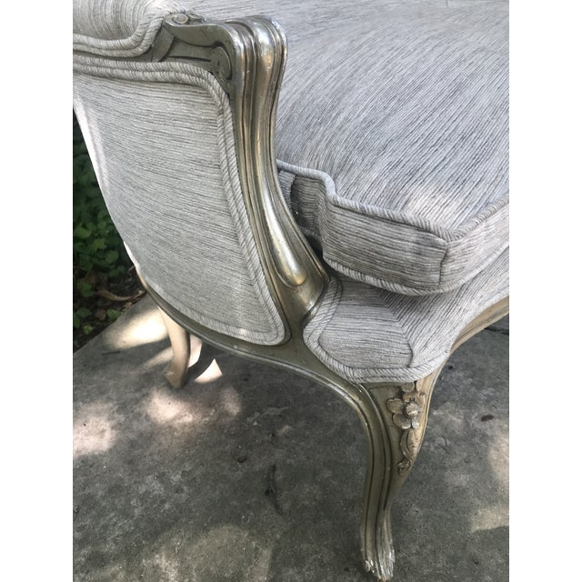French Silver Leaf French Settee For Sale - Image 3 of 11