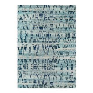 "Momeni Casa Polypropylene Ocean Blue Area Rug - 5'3"" X 7'6"" For Sale"