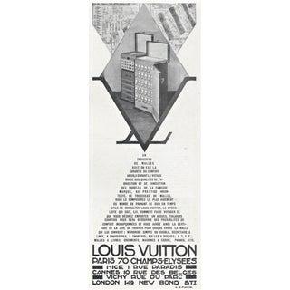 Vintage Art Deco Louis Vuitton Trunk Print For Sale