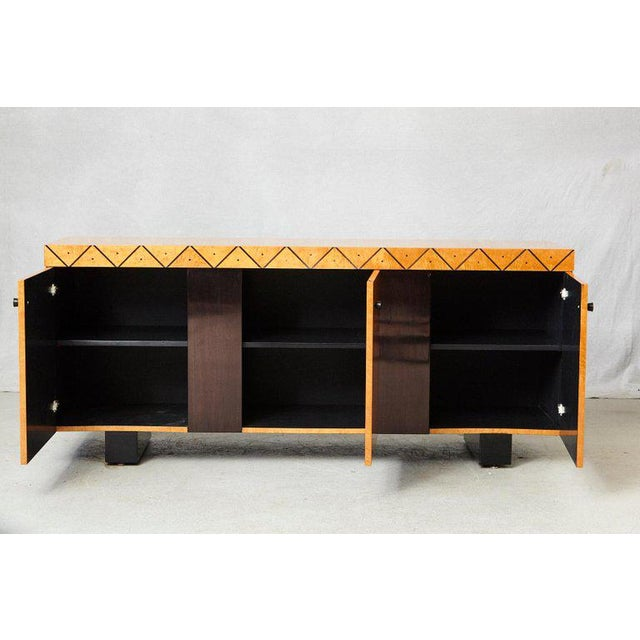 Pace Collection Pace 'Boca' Collection Memphis Style Inspired Lacquered Credenza For Sale - Image 4 of 9