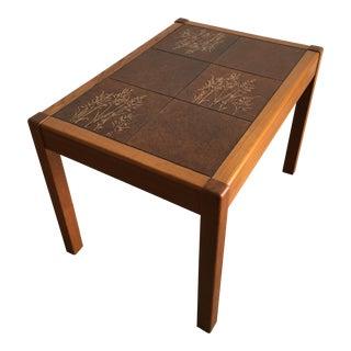 Vintage Mid Century Modern Danish Gangso Mobler Tile Top Side Table For Sale