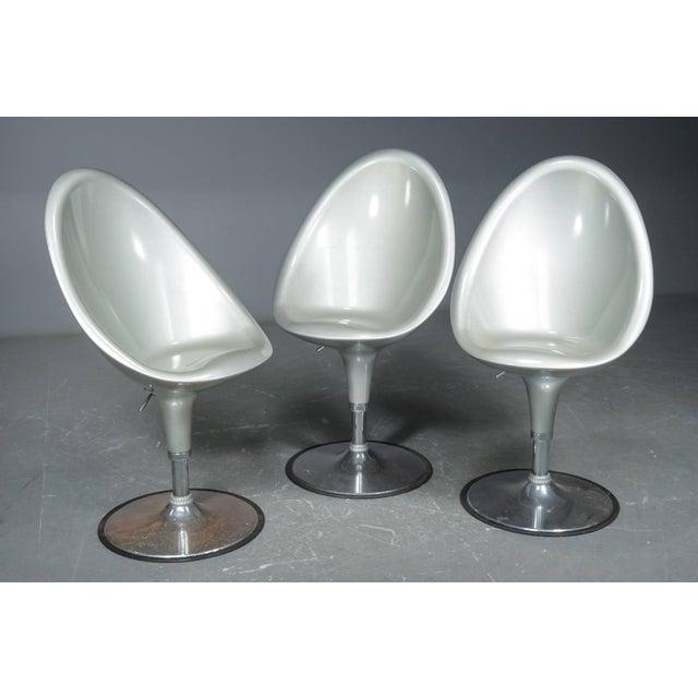 Postmodern Bar Stools- Set of 3 For Sale - Image 4 of 4