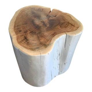 Organic Modern Wood Stump Side Table For Sale
