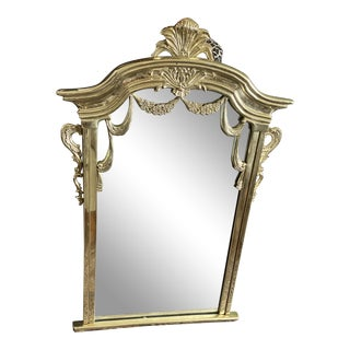 1970s Solid Brass Garland and Acanthus Mirror** For Sale